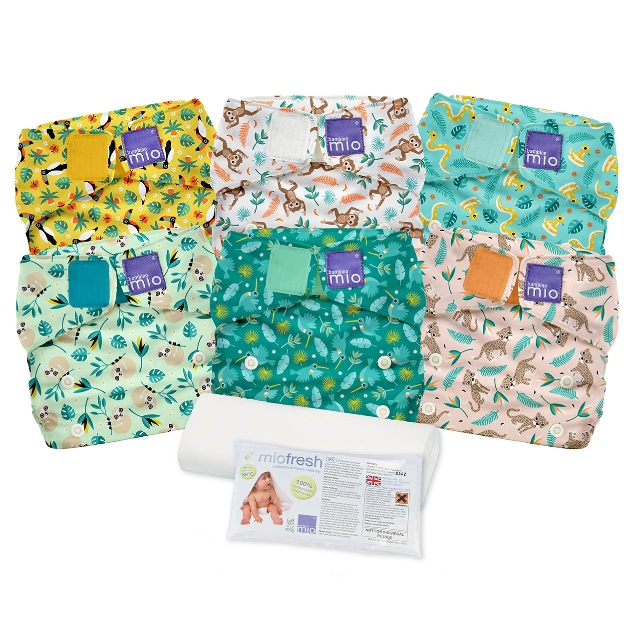 Bambino Mio Miosolo Cloth Diaper Set, Rainforest by Bambino Mio (Image #1)