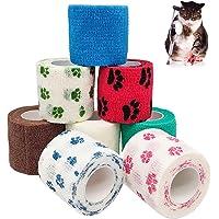 Venda Cinta Atlética, venda adhesiva de color, para mascotas (8 piezas 5X4.5cm)