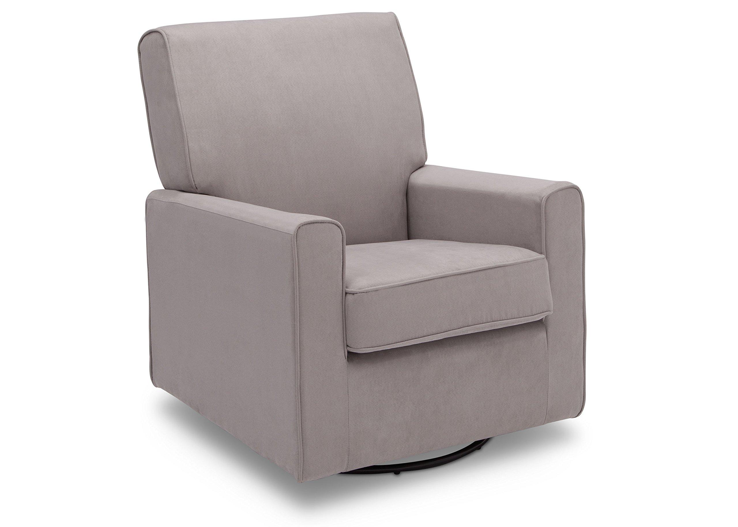 Delta Furniture Ava Upholstered Glider Swivel Rocker Chair, Dove Grey