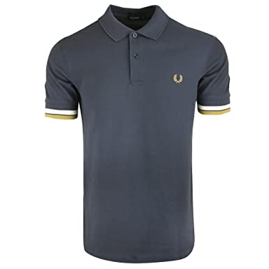 Fred Perry Bold Cuff Pique Shirt, Polo - S: Amazon.es: Ropa y ...