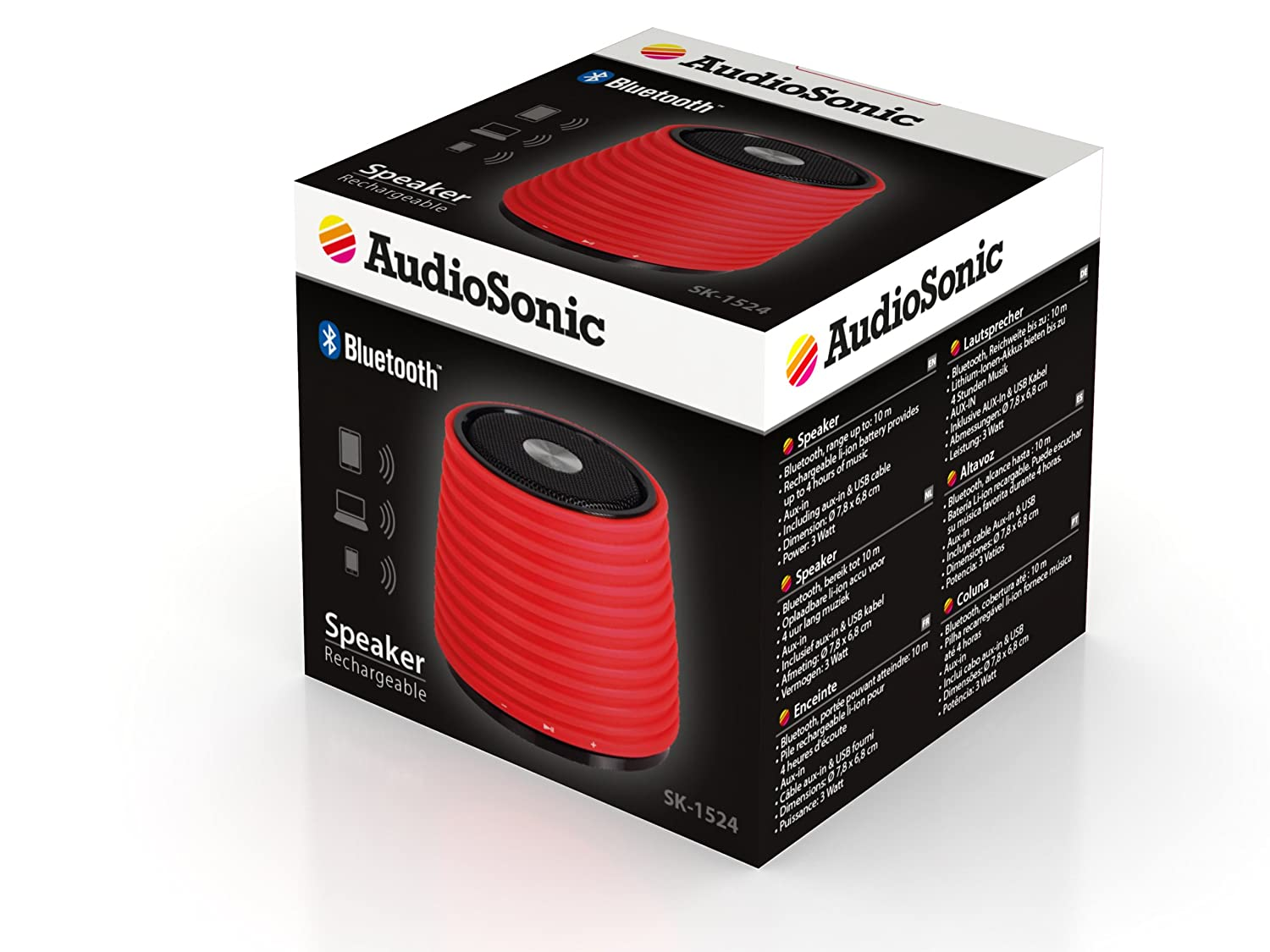 Audiosonic SK-1520 Enceinte Bluetooth Bleu