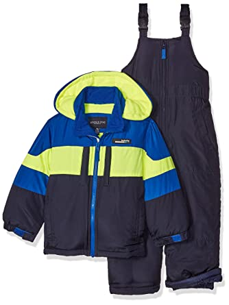 ed07449b6266 Amazon.com  London Fog Boys  2-Piece Snow Bib and Jacket Snowsuit ...