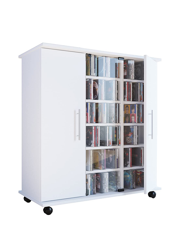 VCM Media-Sideboard Luxor, Wood, White, 93x85x39 cm 10794