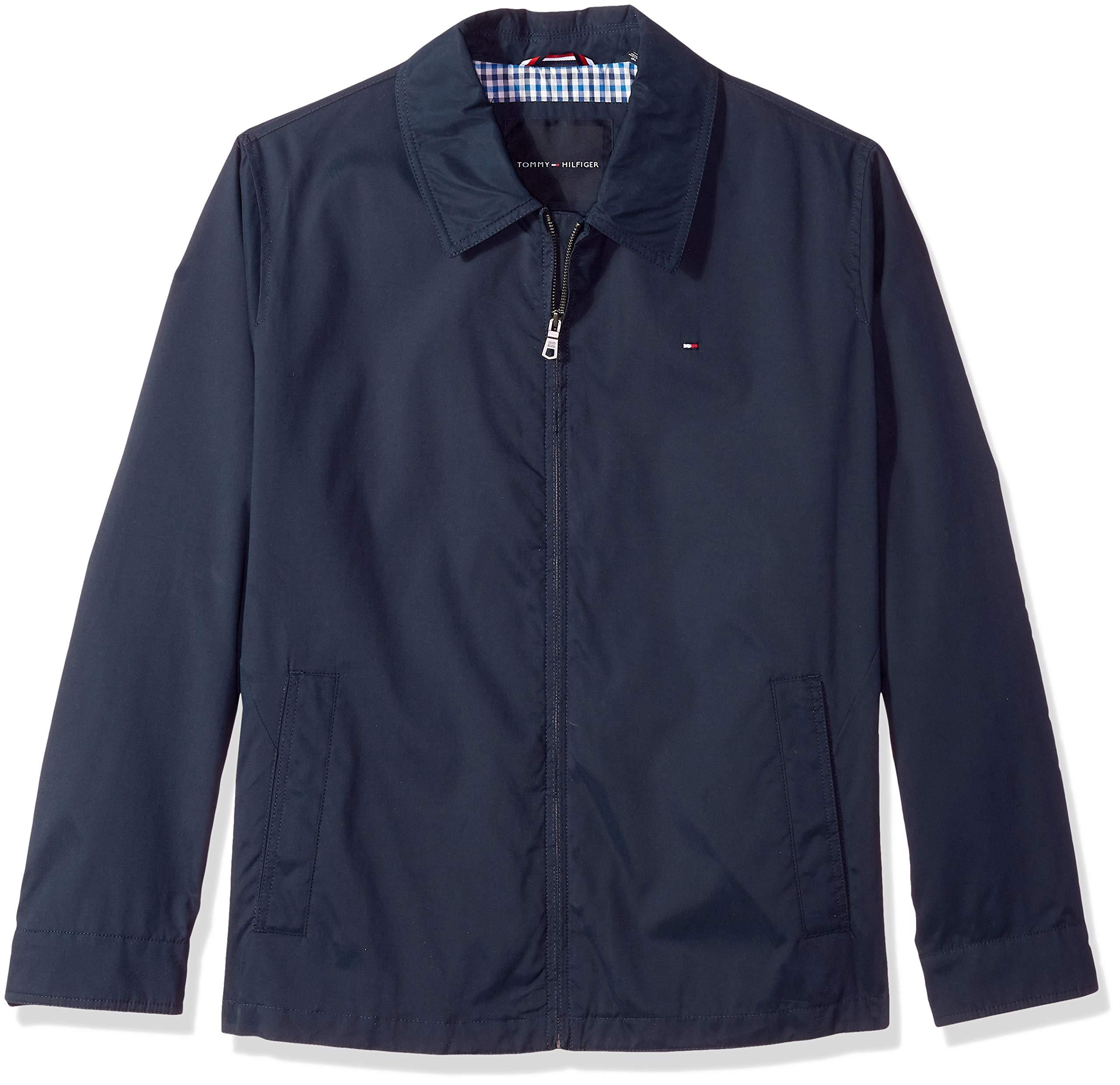 Tommy Hilfiger Men's Big Lightweight Microtwill Golf Jacket (Regular & Big-Tall Sizes), navy, LT by Tommy Hilfiger