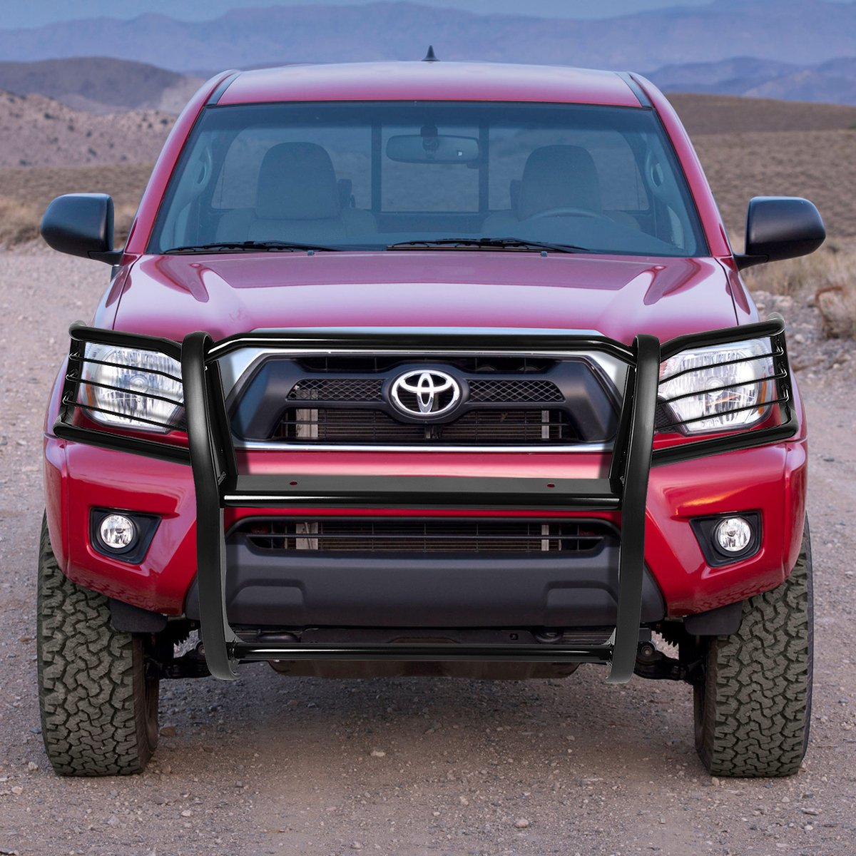 Black For 05-15 Tacoma 2nd Gen Rock Crawler 1.5 inches OD Front Bumper Protector Brush Grille Guard