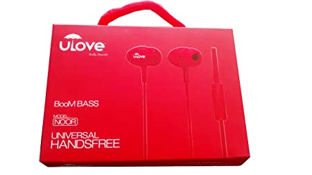 Ulove Big Bang Boom Bass Noor Universal Earphone Headset With Mic  White Wired Headsets