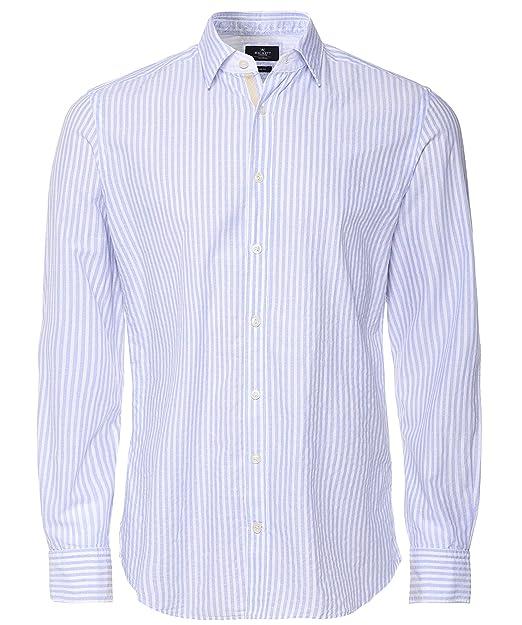 340e418e0cae Righe Misto Camicia Uomo Blu - Querciacb