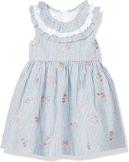 Bonnie Jean Girls' Embroidered Seersucker Dress