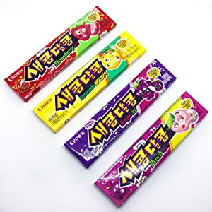 Korean Sweet and Sour Assorted Flavored Chewy Candy 116g (1 Pack)