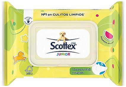 Scottex Junior Papel Higiénico Húmedo - 80 Unidades