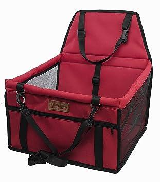 OUTLETISSIMO® transportín Rojo para Perros y Gatos Coche Box y Funda para Asiento Bolsa Mascotas 40 X 32 X 24: Amazon.es: Productos para mascotas