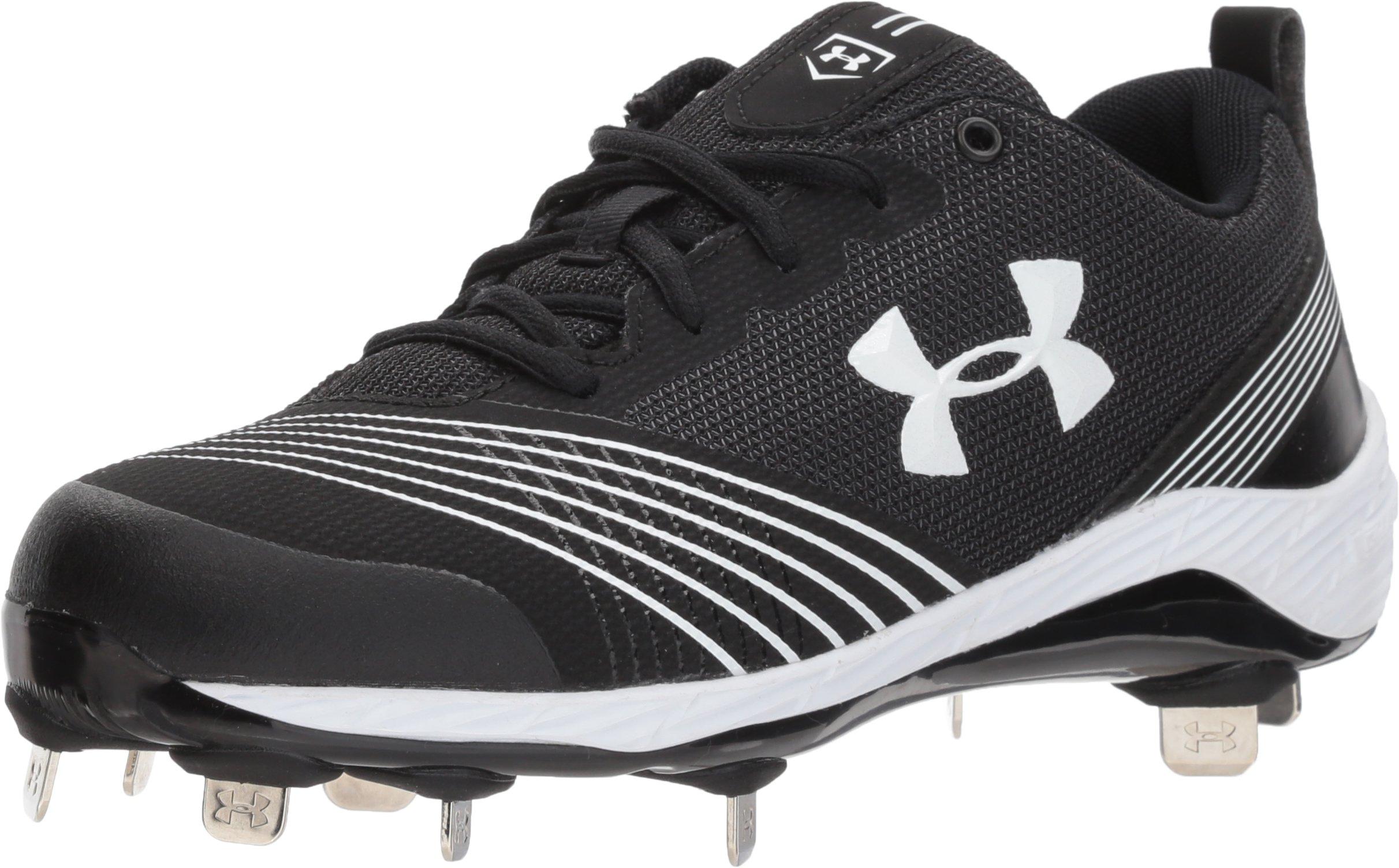 Under Armour Women's Glyde ST Softball Shoe, Black (011)/Black, 8