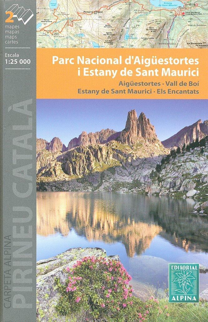 Aigüestortes i Estany de Sant Maurici Parque Nacional 1:25.000 conjunto de 2 mapas topográficos de senderismo y ciclismo España, Cataluña ALPINA: Amazon.es: AlpinaEditions: Libros