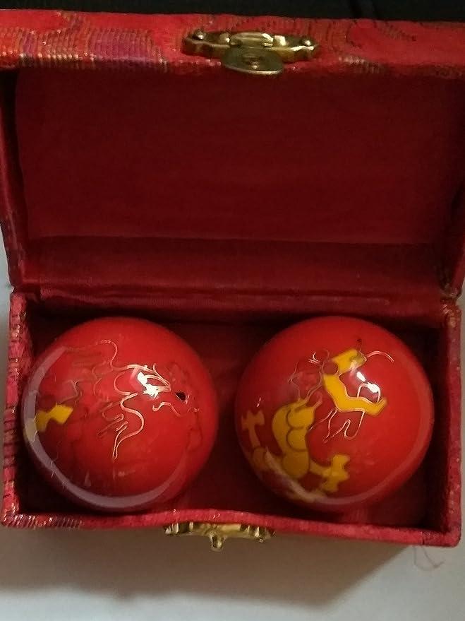 2 opinioni per Feng Shui- Sfere Baoding antistress cinesi decorate Dragon & Phoenix VARI COLORI