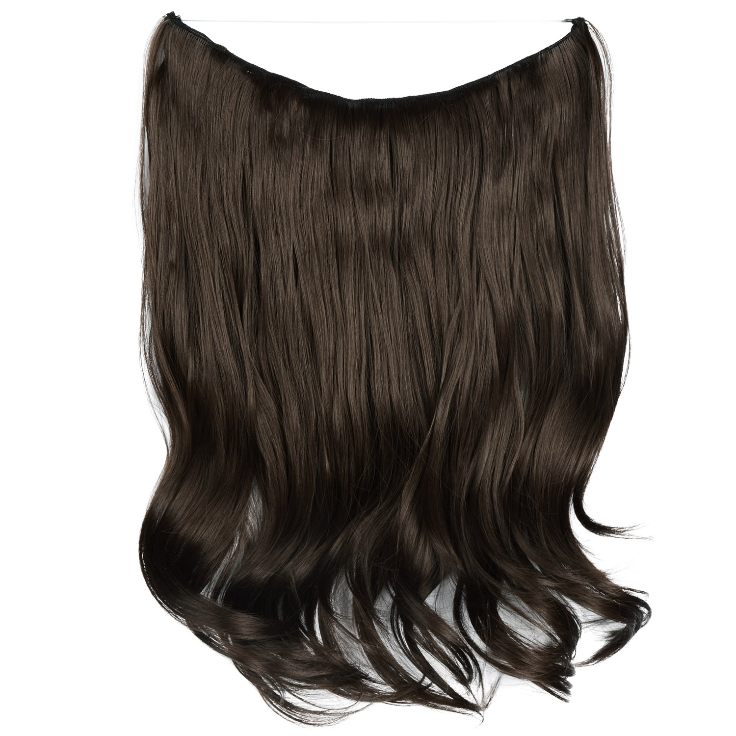 Amazon Feshfen 20 Inch Secret Halo Hair Extensions Flip In