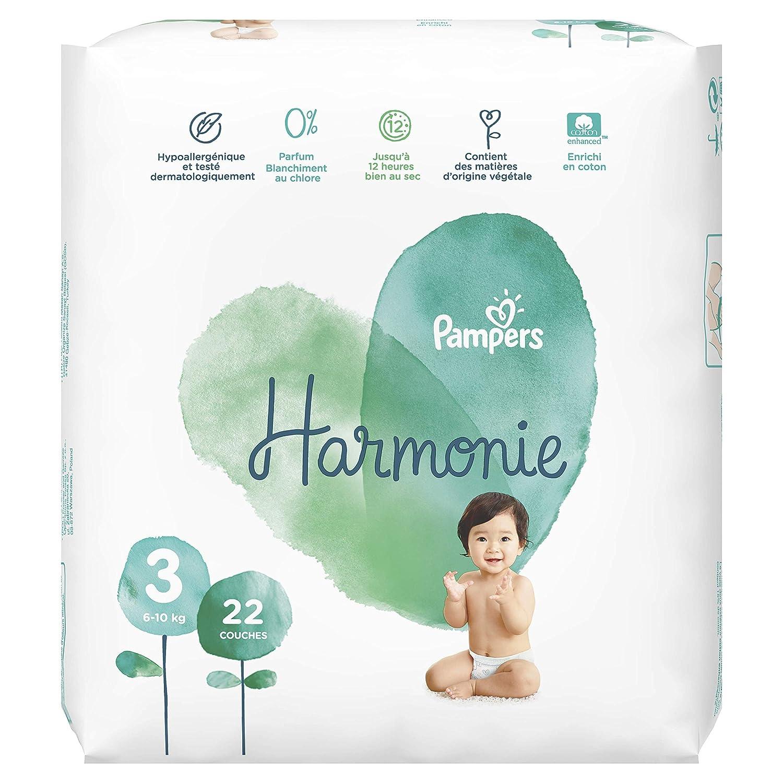 /Lot economique Pampers 9-14kg Harmonie Couches Taille 4 76 couches Hypoallerg/énique