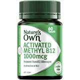 Nature's Own Activated Methyl B12 1000mcg - Maintains Vitamin B12 Levels in a Normal Range - Contains Mecobalamin, 60…