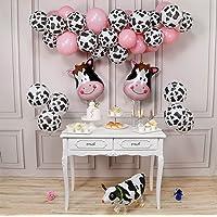 PartyWoo Kuh Party Luftballons, 58 Stück Bauernhof Party Luftballons Satz von Kuh Ballons, Luftballons Rosa, Airwalker Ballon Kuh und Folienballons Kuh für Bauernhof Party, Bauernhof Geburtstagsparty