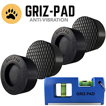 GRIZ-PAD - Juego de 4 almohadillas antivibración y anticaminatas ...