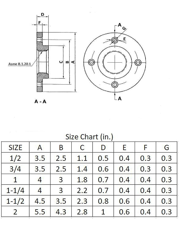 Industrial Pipe Floor Flange Fittings - 1