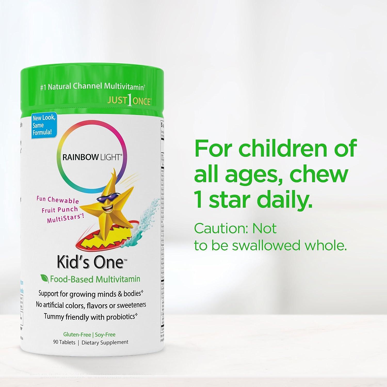 Amazon.com: Rainbow Light - Kids One Food-Based Multivitamin ...