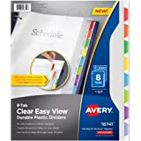 Avery Clear Easy View Durable Plastic Dividers, 8 Tabs (16741)