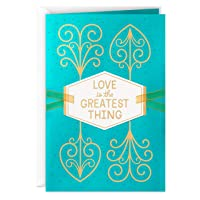 Hallmark Love Card, Valentines Day Card, or Anniversary Card (Love is The Greatest Thing)