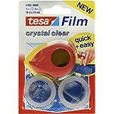 tesafilm Mini Abroller mit 2 Sütck tesafilm Rollen kristall-klar