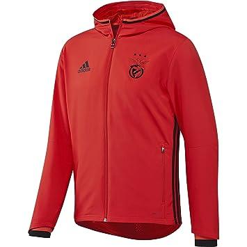 adidas Benfica FC Pre Chaqueta, Hombre, Rojo/Negro, S: Amazon.es: Deportes y aire libre