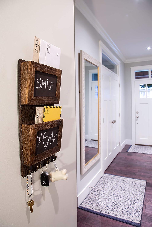 para colgar en la pared BerryChips 38 x 14 x 1,5 cm Estanter/ía flotante de madera flotante con borlas oficina accesorio para habitaci/ón de los ni/ños sal/ón