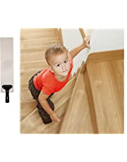 """EdenProducts(15-PACK)Pre Cut Transparent 24"""" x 4"""" (More Sizes Available) Non Slip Strips, Safety For Kids, Elders And Pets, Adhesive Stair / Floor Treads, Indoor, Outdoor, Prevents Slipping, PVC FREE"""