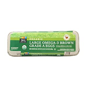365 Everyday Value, Organic Large Omega-3 Brown Grade A Eggs, 12 CT