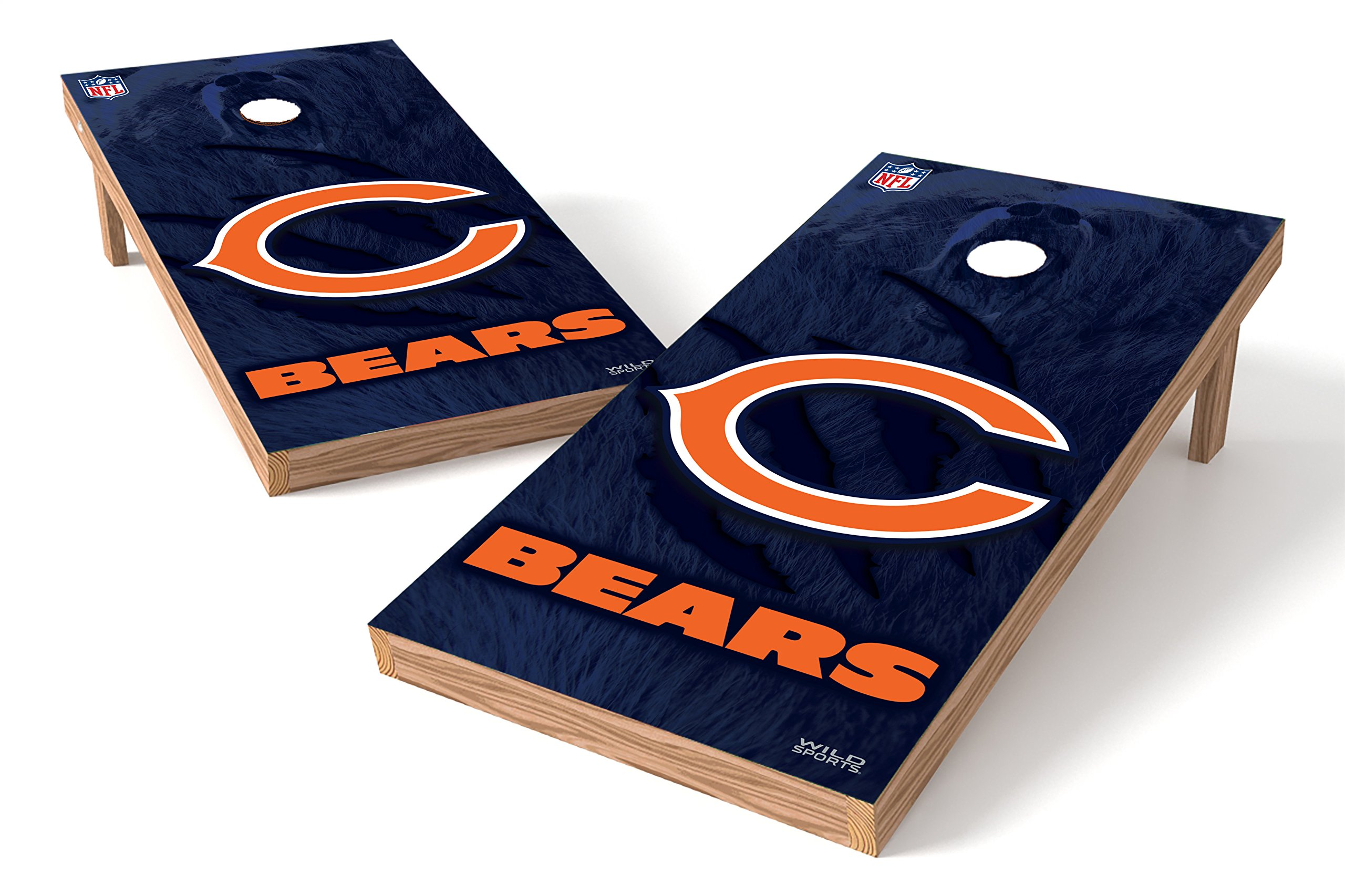 Wild Sports NFL Chicago Bears 2' x 4'  Authentic Cornhole Game Set