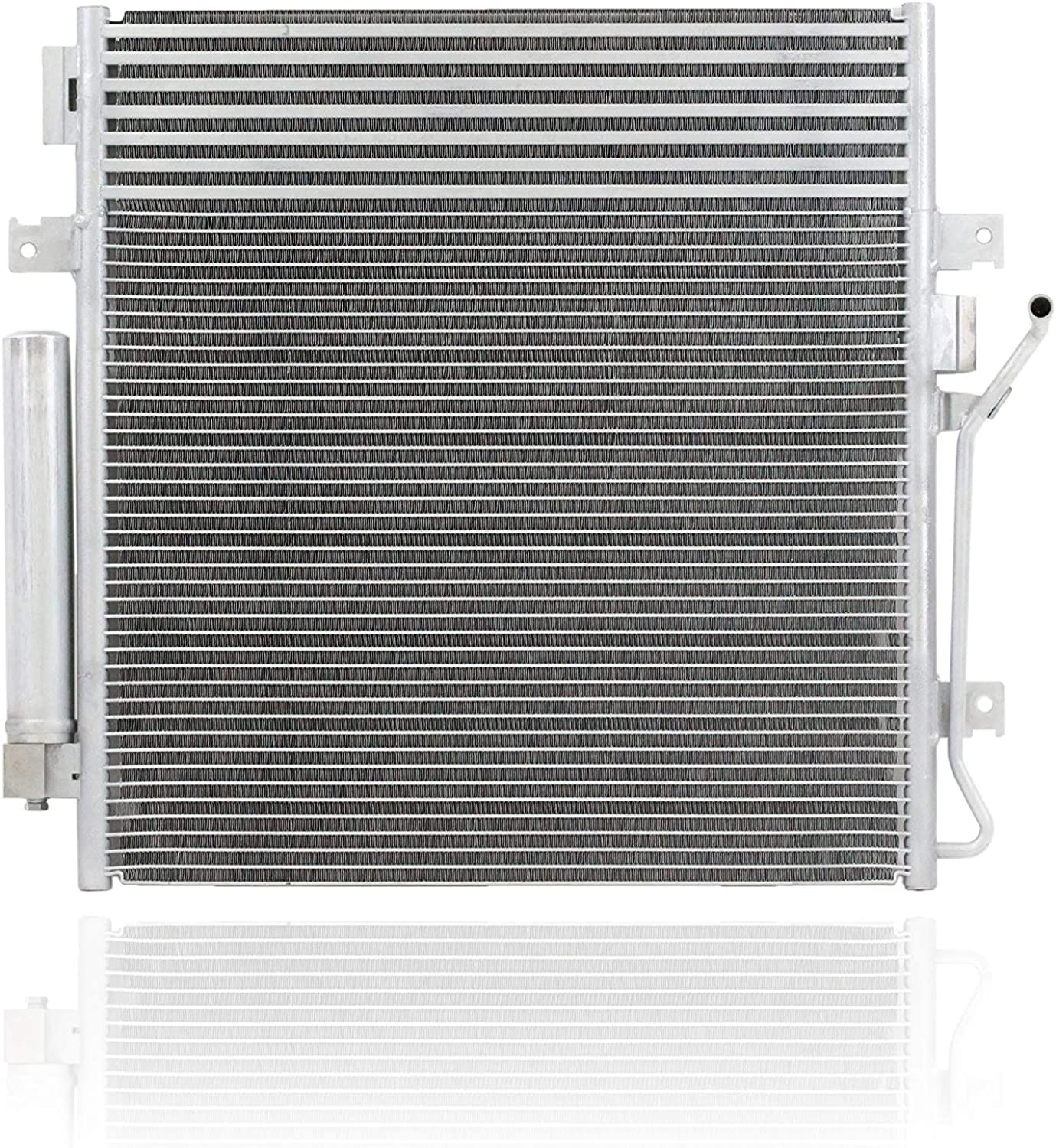 Pacific Best Inc For//Fit 3664 Dodge Nitro Jeep Liberty AT w//Transmission Oil Cooler w//Receiver /& Dryer A-C Condenser