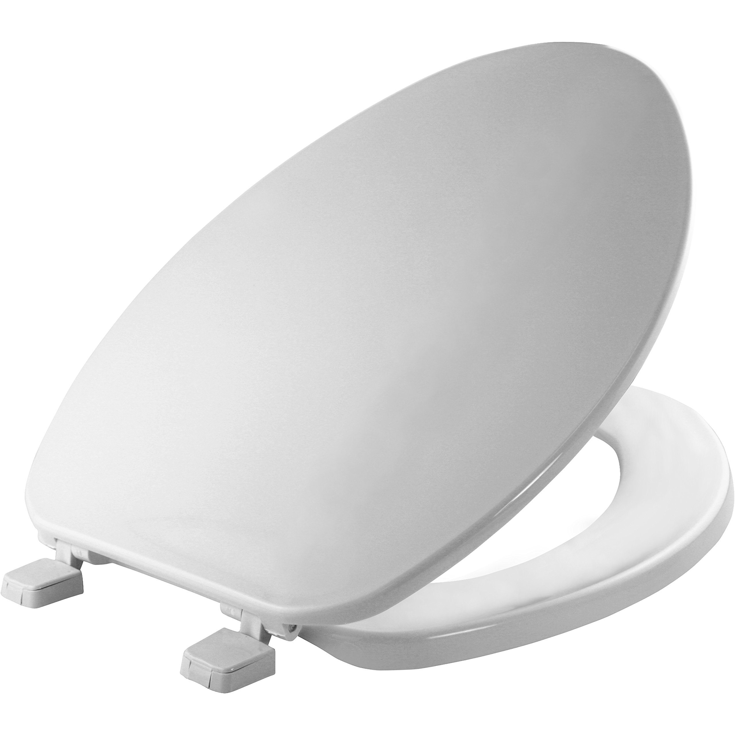 Bemis Economy Plastic Toilet Seat, Elongated, White, 170 000
