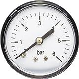 AWM casa de presión Manómetro indicador de presión de 0.64 cm, AmitHWW-mm