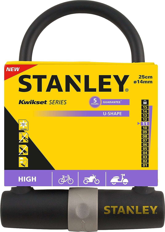 Stanley S755-201 - Candado para Bicicleta en Forma de U, 3 Llaves (14 x 247 mm): Amazon.es: Deportes y aire libre