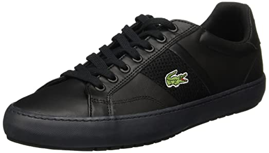 Lacoste Mens Fairlead Terra 316 1 SPM Black Leather Trainers 11 US