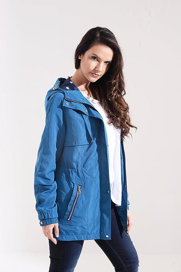 Charcoal Fashion Damen Parka Regenjacke silber stahl: Amazon.de: Bekleidung