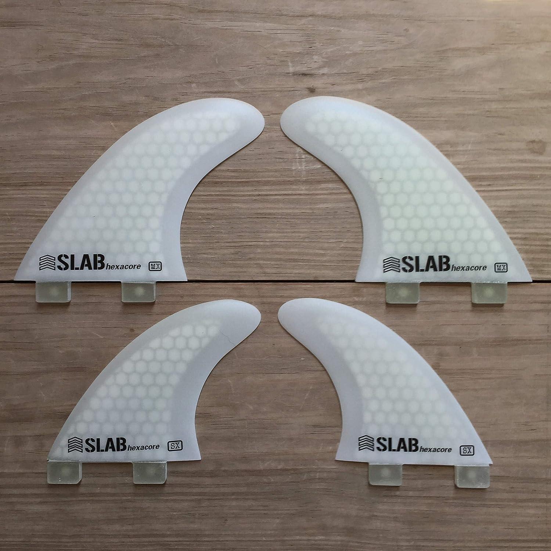 Slab-Surf Fins Quad Hexaciore Full White FCS