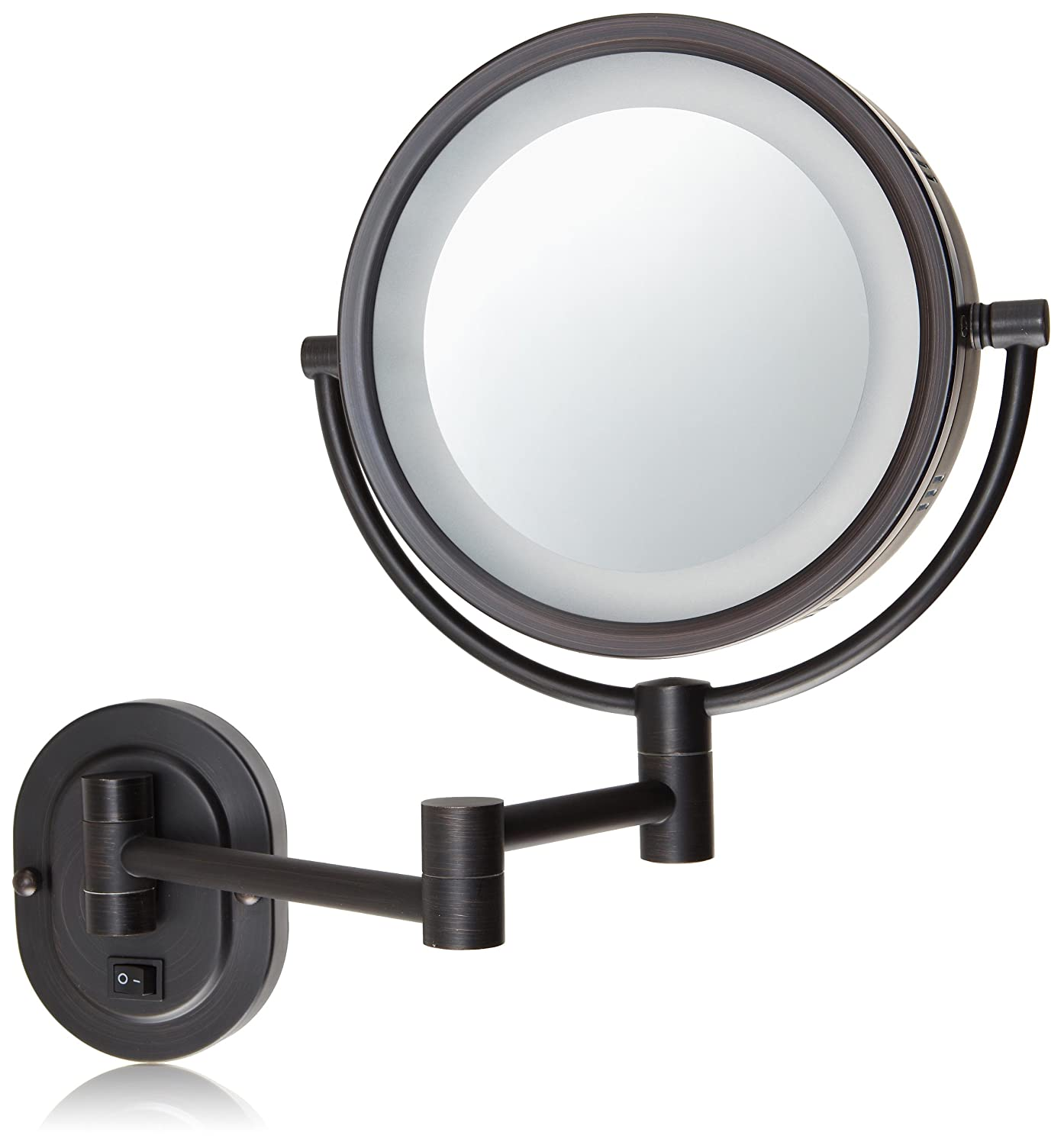 Amazon jerdon hl65bzd 8 inch lighted direct wire wall mount amazon jerdon hl65bzd 8 inch lighted direct wire wall mount makeup mirror with 5x magnification bronze finish personal makeup mirrors beauty amipublicfo Choice Image