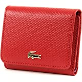 LACOSTE Chantaco Medium Trifold Wallet Pompeian Red