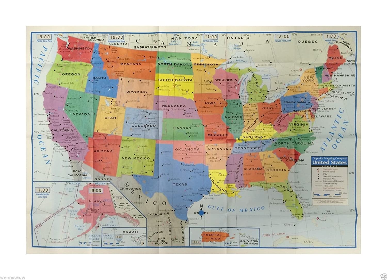 Large Map Of United States.Amazon Com Wennow United States Us Wall Map 40 X 28 Usa Large