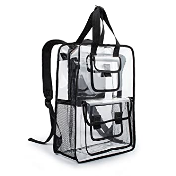 estarer   Estarer Clear Backpack Travel Beach Work Security ...