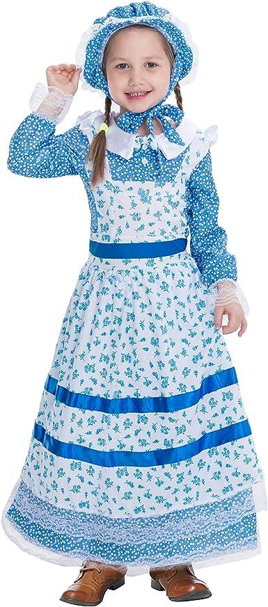 Pioneer Women Floral Prairie Dress Deluxe Colonial Dress Laura Ingalls Costume