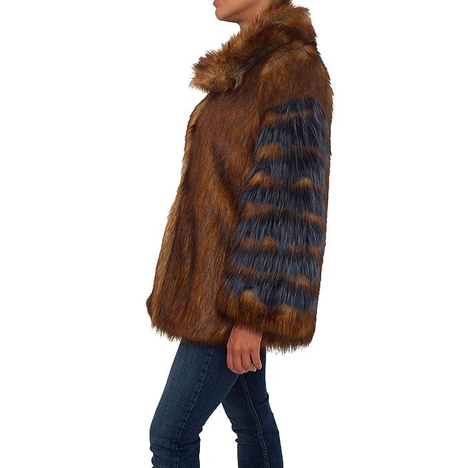 diseño de calidad ddacb 31a2e GUESS Abrigo de Pelo marrón Marciano (Marrón - 40): Amazon ...