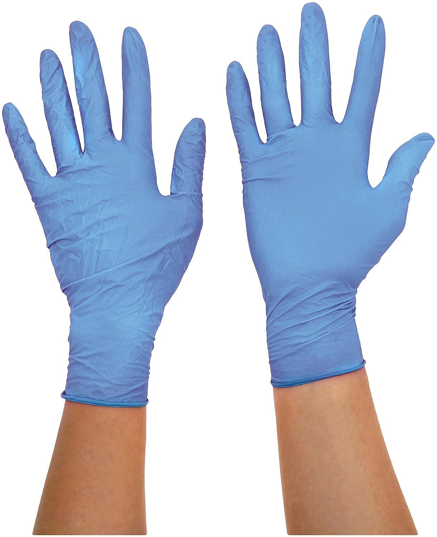Ansell TouchNTuff 92-670 Nitril Handschuhe, Chemikalien- und Flü ssigkeitsschutz, Hellblau, Grö ß e 6.5-7 (100 Handschuhe pro Spender) Ansell TouchNTuff 92-670 / 6.5-7