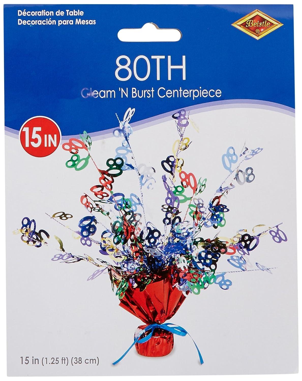 15-Inch The Beistle Company Beistle 50818-8080 Gleam N Burst Centerpiece