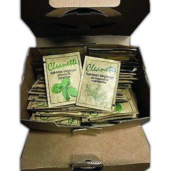 Kit maletín de 48 toallitas húmedas tergimani cleanette – Aroma Aloe Vera con crema Emolliente –