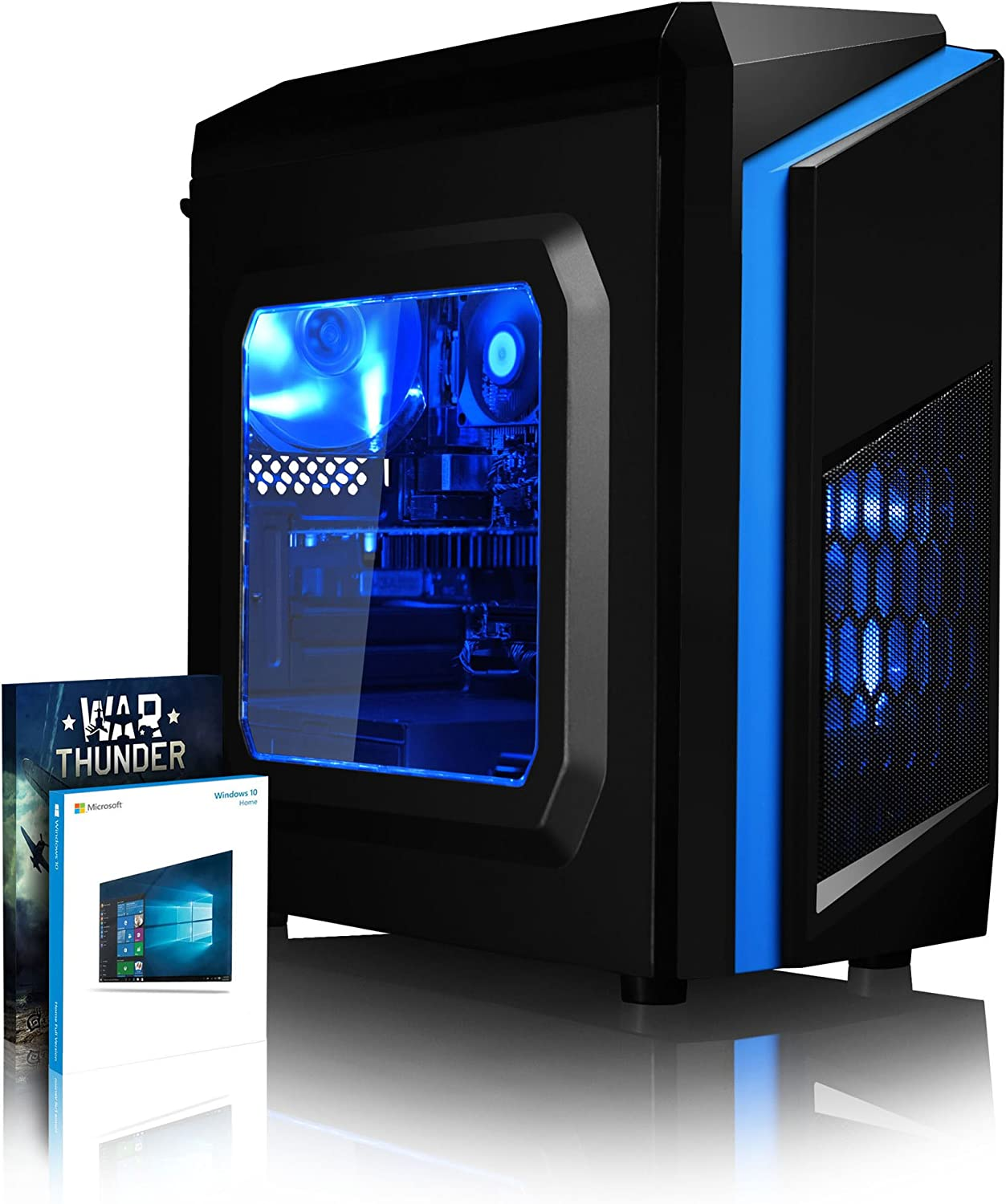 VIBOX Warrior 4XSW Gaming PC Ordenador de sobremesa con War Thunder Cupón de Juego, Windows 10 Pro OS (4,1GHz AMD FX 6-Core Procesador, Nvidia GeForce GTX 1050 Tarjeta Grafica, 16GB RAM, 2TB